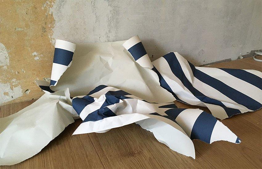 Desechar papel pintado - ¿Qué hacer con los restos de papel pintado y pintura?