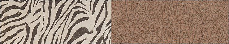 Papier peint effet cuir et peau d'animal
