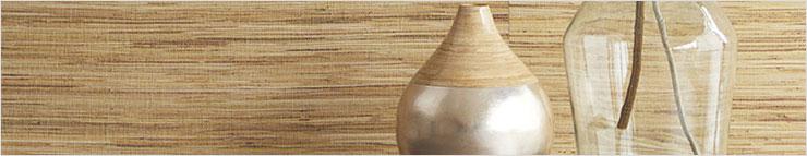 Papier peint naturel (herbe, bambou, liège et autres)