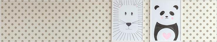 Papier peint à pois et cercles