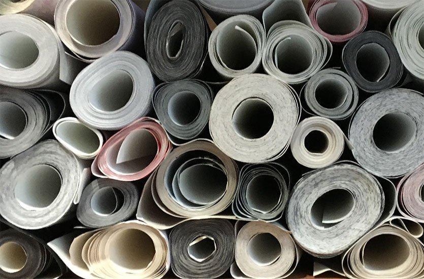Les différents types de papiers peints dans le vue d'ensemble