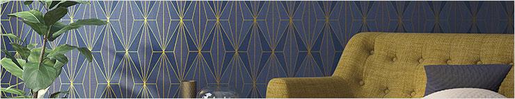 Grafisch en geometrisch behang