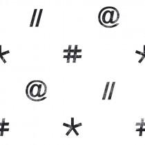 111036 Hashtag Rasch-Textil